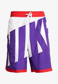 Nike Performance - DRY SHORT THROWBACK - Krótkie spodenki sportowe - white/court purple/university red - 3