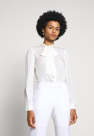 BOW BLOUSE - Button-down blouse - bone