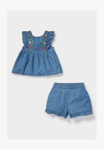 SET - Denim shorts - denim/light blue