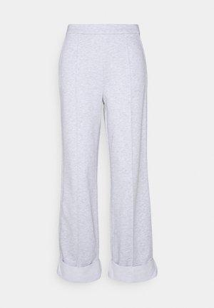 WIDE LEG PANTS - Trousers - grey melange