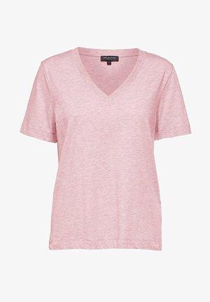 SLFSTANDARD  V NECK TEE  - Basic T-shirt - primrose pink