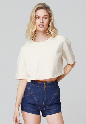 CRISTI - Basic T-shirt - beige