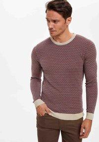 DeFacto - Stickad tröja - red - 2