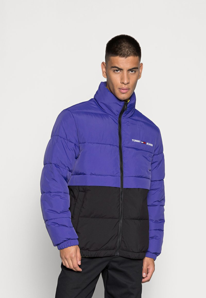 Tommy Jeans - REVERSIBLE PUFFER JACKET - Talvejope - court blue/multi