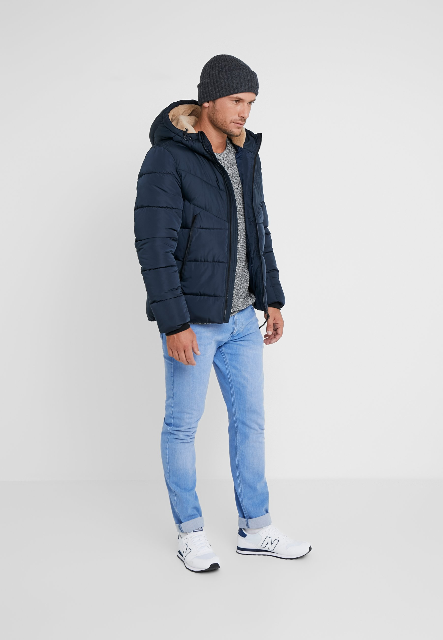 TOM TAILOR DENIM HEAVY PUFFER JACKET - Veste d'hiver - sky captain blue