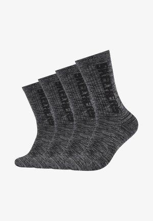 4 PACK - Sports socks - dark grey random