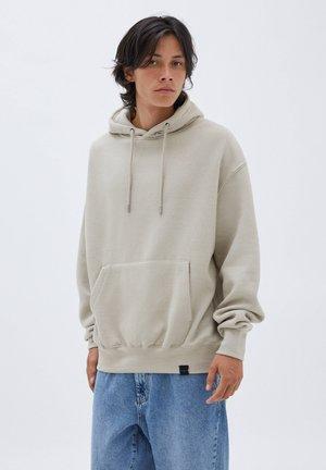 BASIC  - Bluza z kapturem - mottled beige