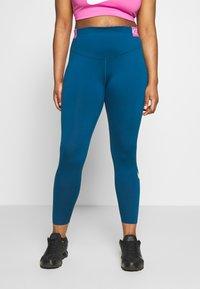 Nike Performance - ONE PLUS - Punčochy - valerian blue/cosmic fuchsia - 0