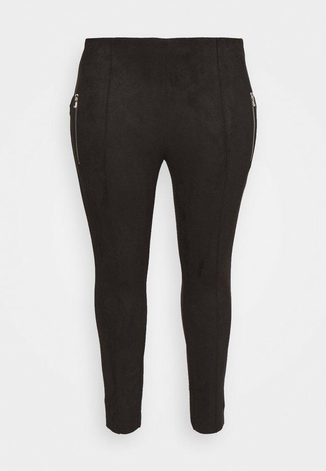 VMCAVA ZIP NWFAUX - Leggings - Trousers - black