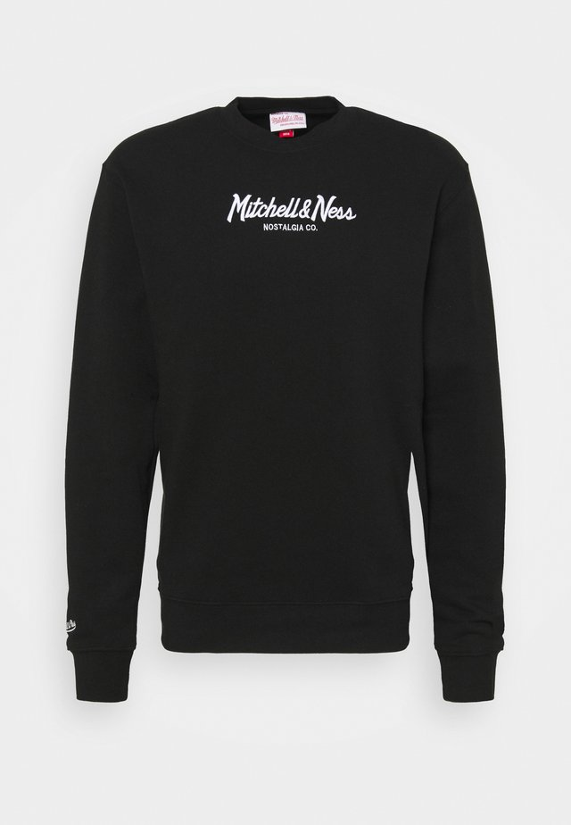 BRANDED PINSCRIPT CREW - Sweatshirt - black/black