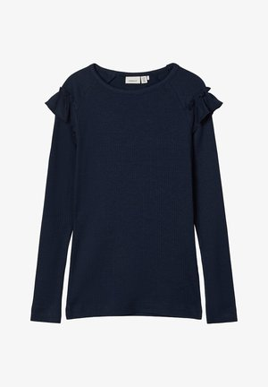 Long sleeved top - dark sapphire