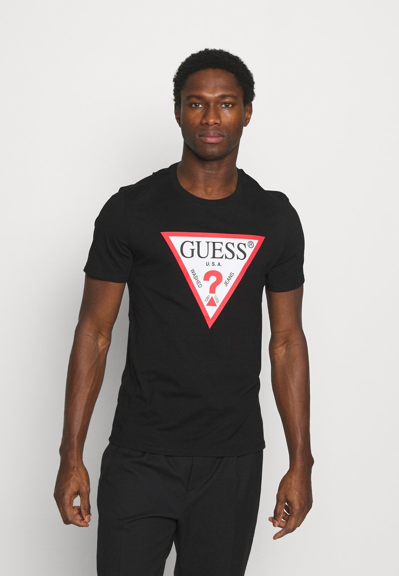 Guess - ORIGINAL LOGO - T-shirt con stampa - jet black