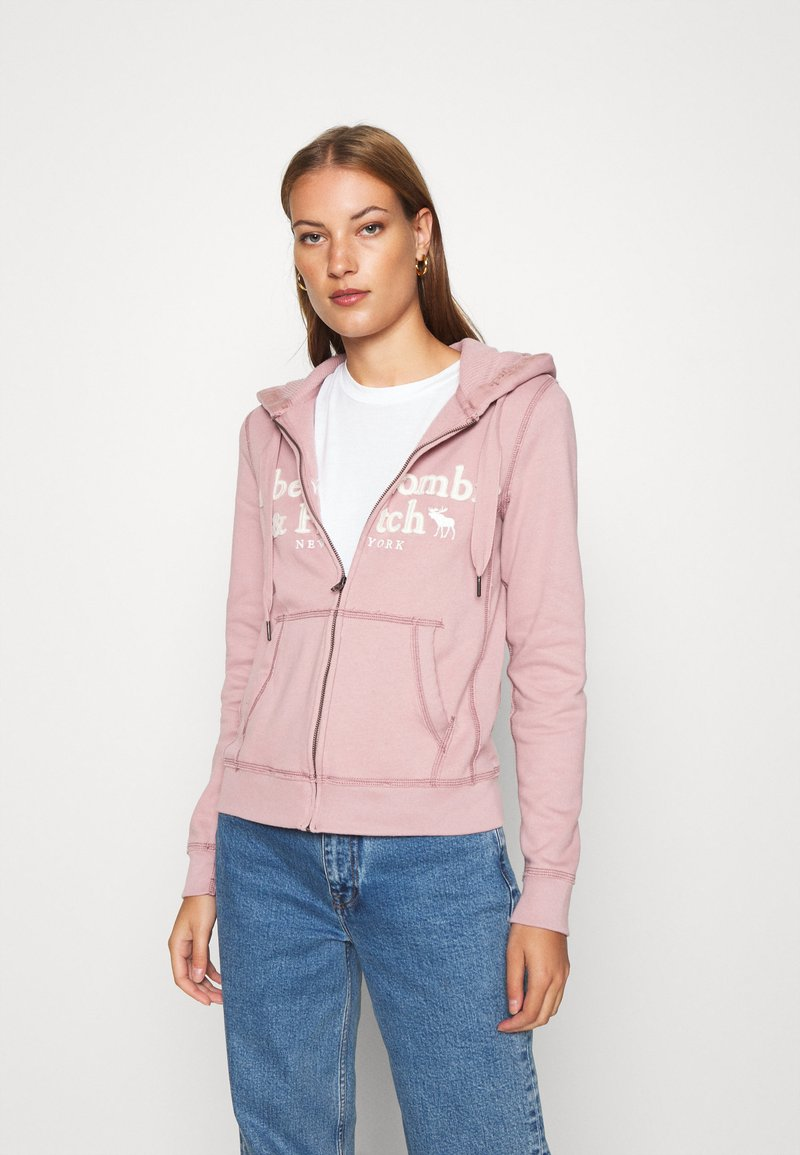 Abercrombie & Fitch - LONG LIFE FULL ZIP - Zip-up hoodie - pink