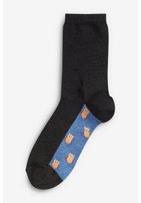 Next - WOODLAND ANIMAL FOOTBED ANKLE SOCKS 5 PACK - Socks - black - 3