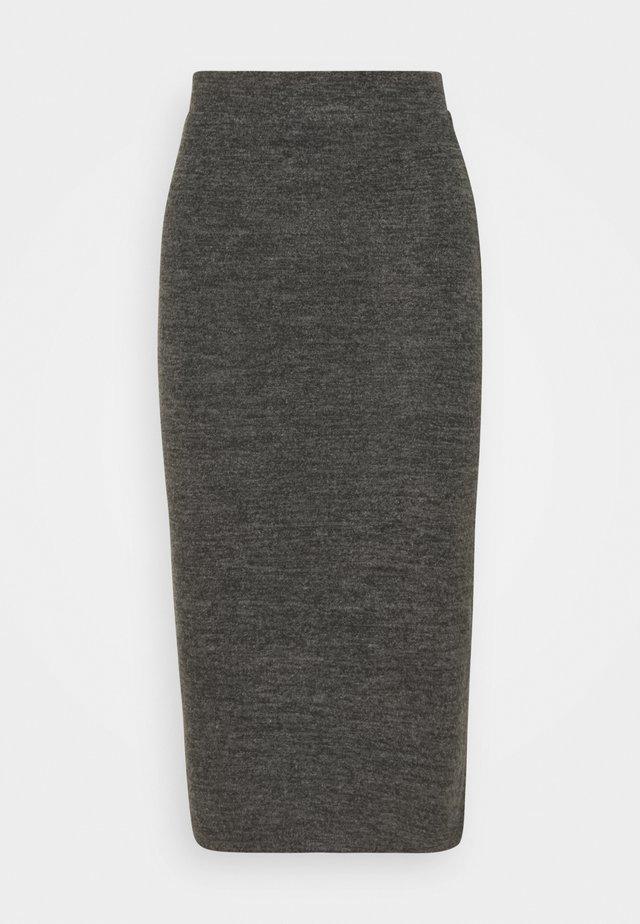 PCPAM PENCIL SKIRT - Spódnica ołówkowa  - dark grey melange