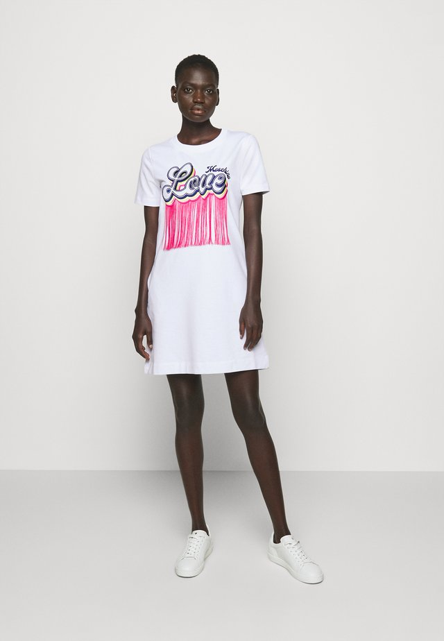 Korte jurk - optical white