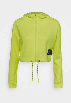ONPJUDIE CROPPED ZIP HOOD - Sportovní bunda - safety yellow