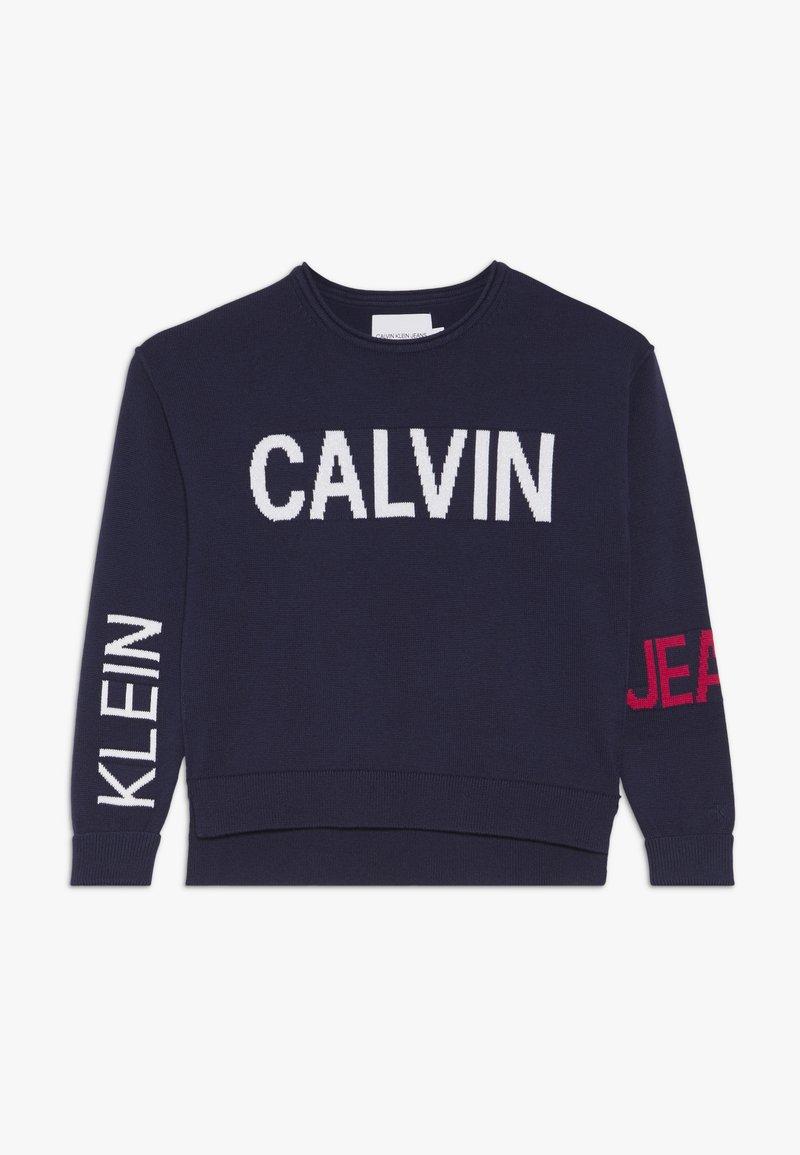 Calvin Klein Jeans - STAMP LOGO  - Trui - blue