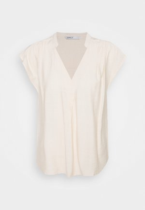 ONLJOSEY V NECK  - T-shirt basic - ecru