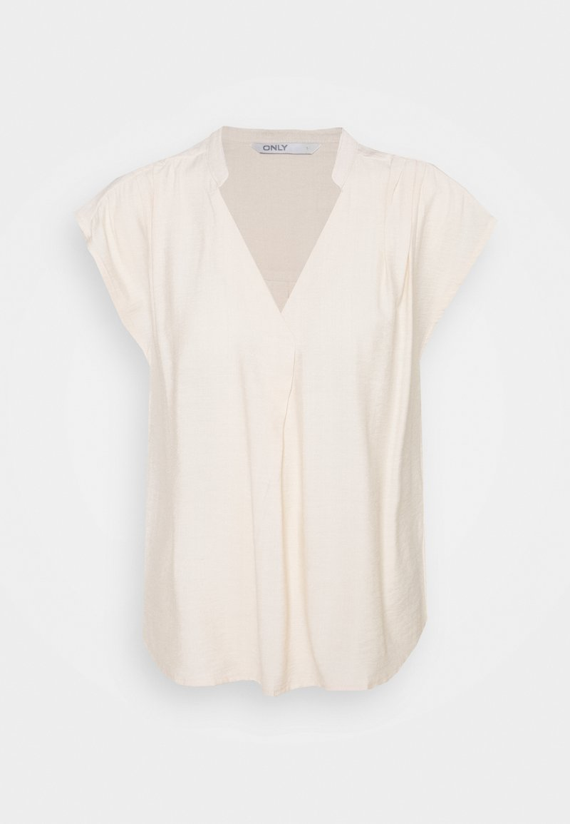 ONLY - ONLJOSEY V NECK  - Basic T-shirt - ecru