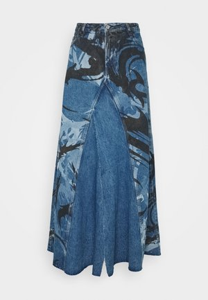DE SPIZ SKIRT - Maxi skirt - blue denim