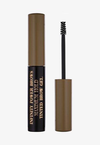 INFINITY POWER BROWS - MAXIMUM HOLD TINTED BROW GEL - Eyebrow gel - taupe