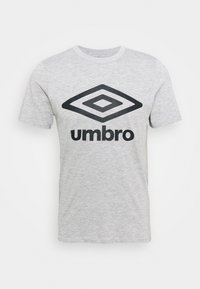 Umbro - LARGE LOGO TEE - Triko spotiskem - grey marl/black - 3