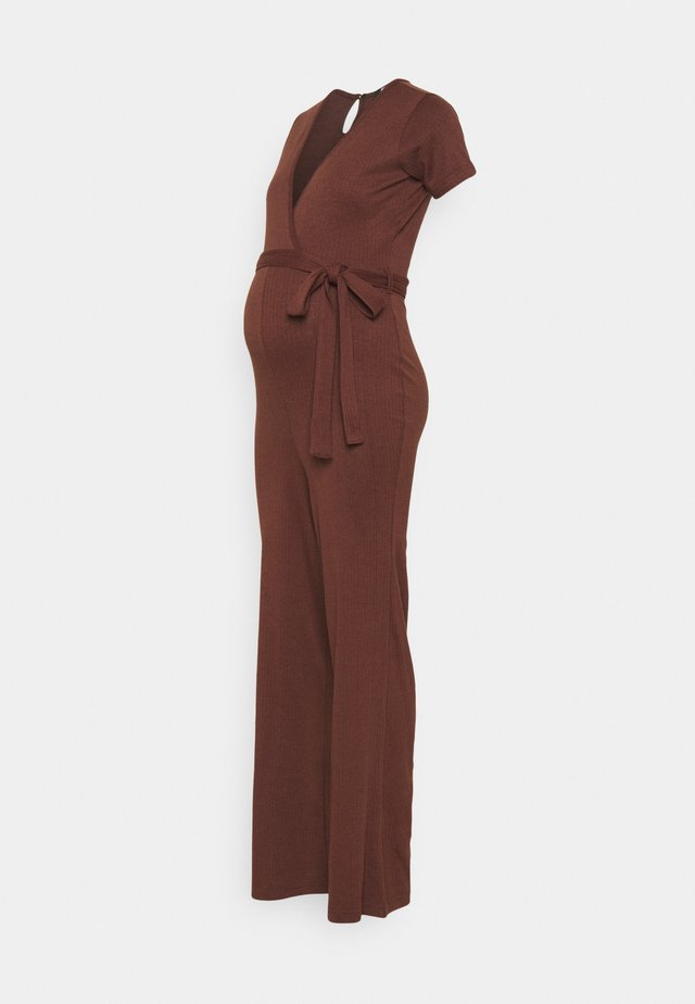 WRAP BELTED - Jumpsuit - chocolate