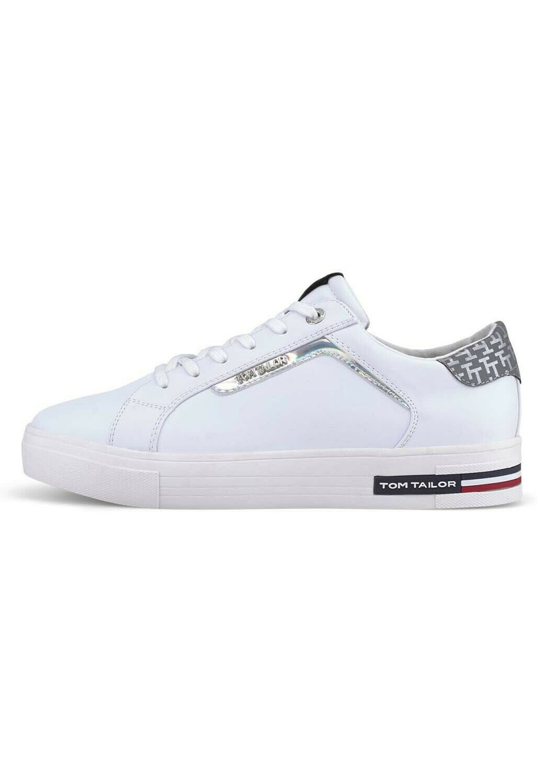 Tom Tailor Schnür-Schuhe modische Damen Sneaker mit Schmetterlingen Weiß