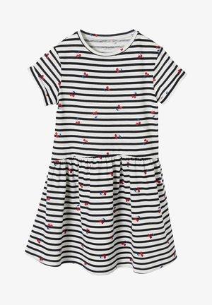 Jersey dress - white/navy