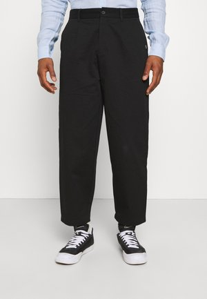 PLEATED TROUSER - Pantalon classique - black