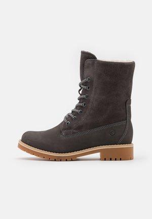 Šněrovací kotníkové boty - antracite