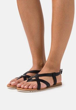 LORENA - T-bar sandals - black