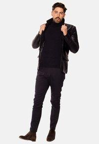 LEATHER HYPE - HYPE BLAZER - Leather jacket - black - 2