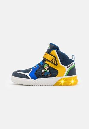 NINTENDO SUPER MARIO GEOX JUNIOR GRAYJAY BOY - Sneakers hoog - royal/yellow