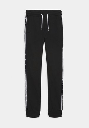 SHIELD TAPE PANTS - Tracksuit bottoms - black pegaso