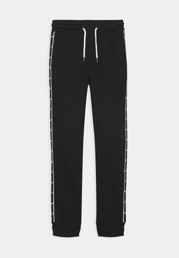 SHIELD TAPE PANTS - Tracksuit bottoms - black pegaso