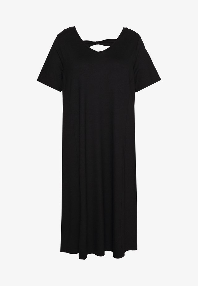 DRESS WITH KNOT DETAILS IN THE BACK - Jersey dress - black