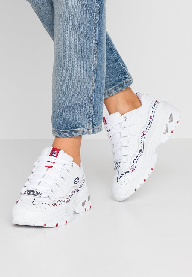 ENERGY - Baskets basses - white/navy/red/metallic