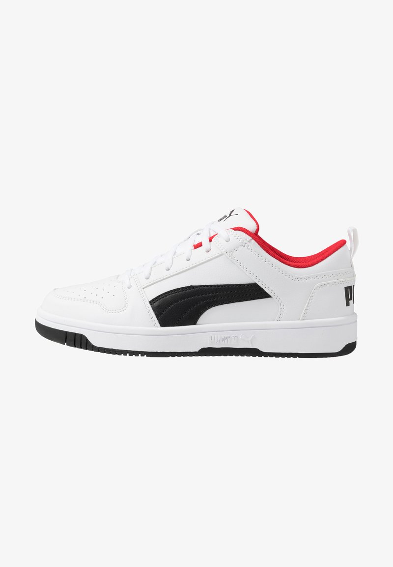Puma - REBOUND LAYUP UNISEX - Sneakers - white/black/high risk red