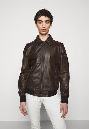 FRANJO - Leather jacket - beluga