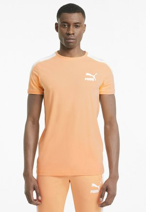ICONIC  - T-shirt med print - peach cobbler