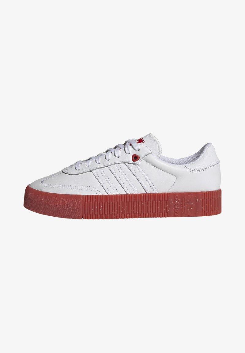 adidas Originals - SAMBAROSE - Joggesko - footwear white/scarlet/core black