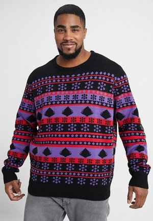 SNOWFLAKE CHRISTMAS TREE - Strickpullover - ultraviolet/black/firered