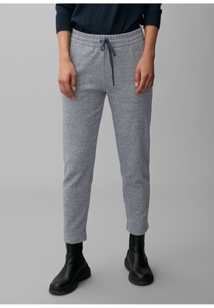 ELASTISCHEM BAUMWOLL-MIX - Tracksuit bottoms - multi/dark night