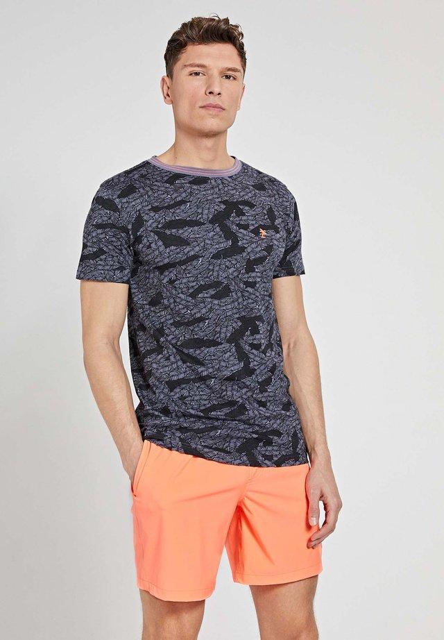 TEE LEAF - T-shirt con stampa - black