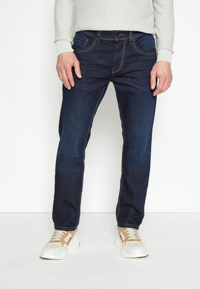 MARVIN - Straight leg jeans - dark stone/wash denim