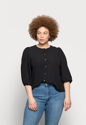 CARLUXMILA 3/4 PUFF SOLID - Blouse - black