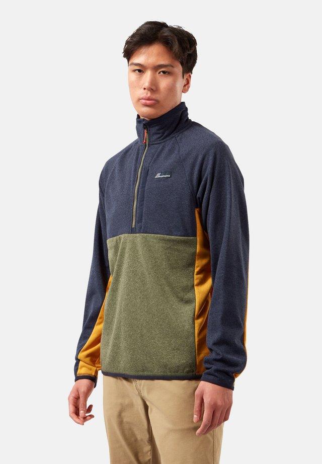 Fleece jumper - blue navy/parka green