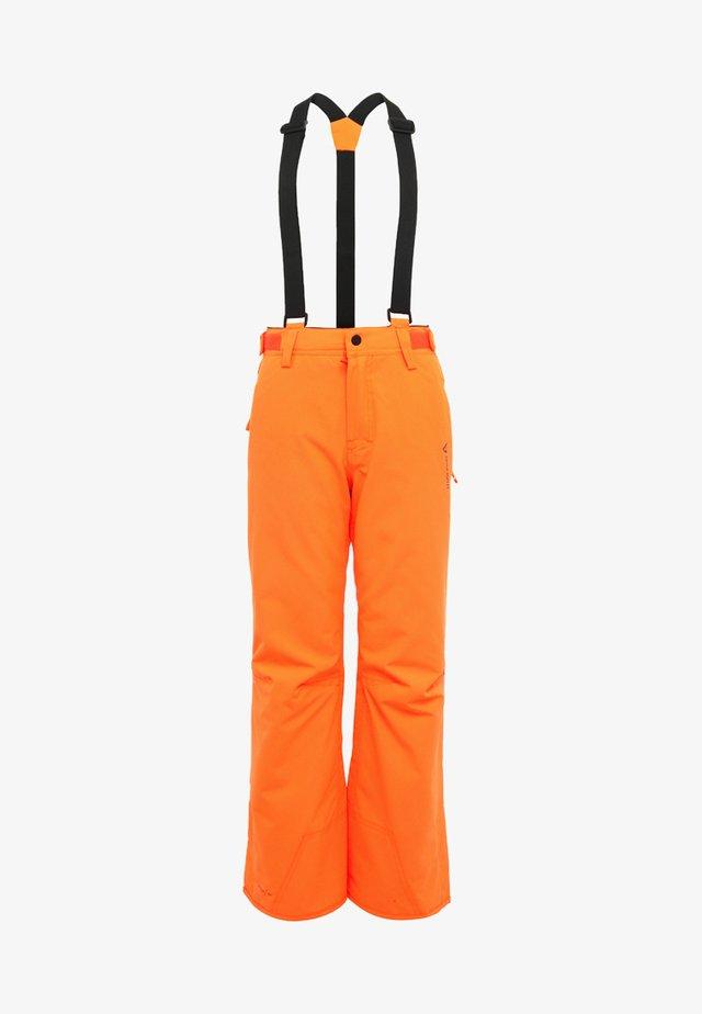 FOOTSTRAP SNOWPANTS - Talvihousut - fluorecent orange